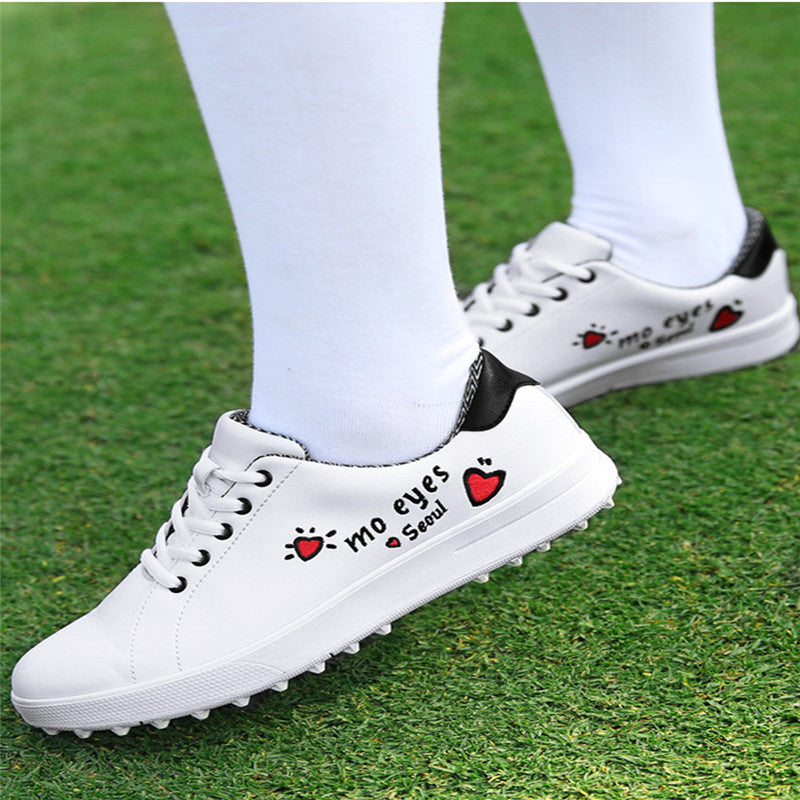 PGM Korean Women Golf Shoes Women's Leisure Section Fixed Nail Waterproof Non-slip Printing Girls Sports Shoes