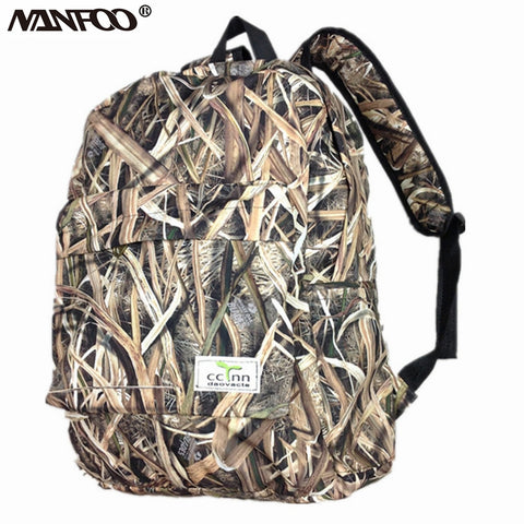 New Tree & Reed Camouflage Hunting Backpack Outdoor Bionic Camo Hiking Fishing Bag Soft Shell Inner Waterpoof Tactical Bag