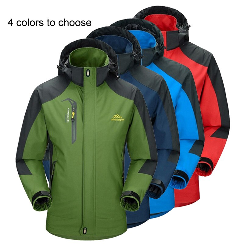 LoClimb Men's Spring/Autumn Outdoor/Hiking Jacket Men Mountain Trekking Windbreaker 5XL Fishing Coat Waterproof Jackets AM163