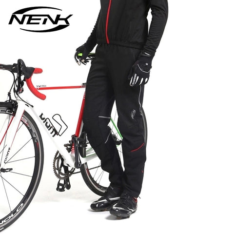 SOBIKE Nenk Cycling Bike Pants Men's Thermal Fleece Wind Pants Equipment Windproof Pants Sports Outdoor Winter Autumn Trousers