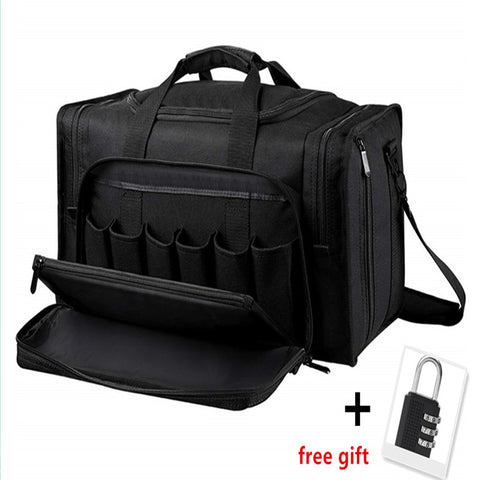 Tactical Gun Range Bag Shooting Duffle Bags for Handguns Pistols with Lockable Zipper and Heavy Duty Antiskid Feet