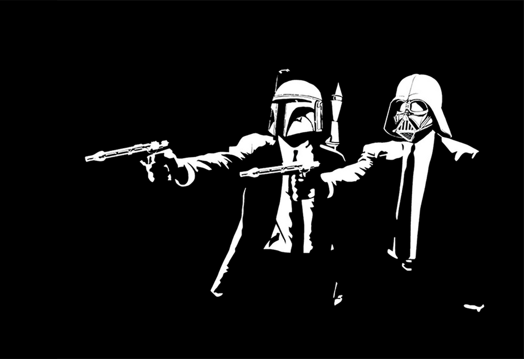 Boba Fett and Darth Vader Pulp Fiction Prints