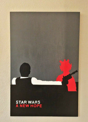 "Star Wars - ""Han Solo Shot First Greedo 24"" x 36 "" Canvas"