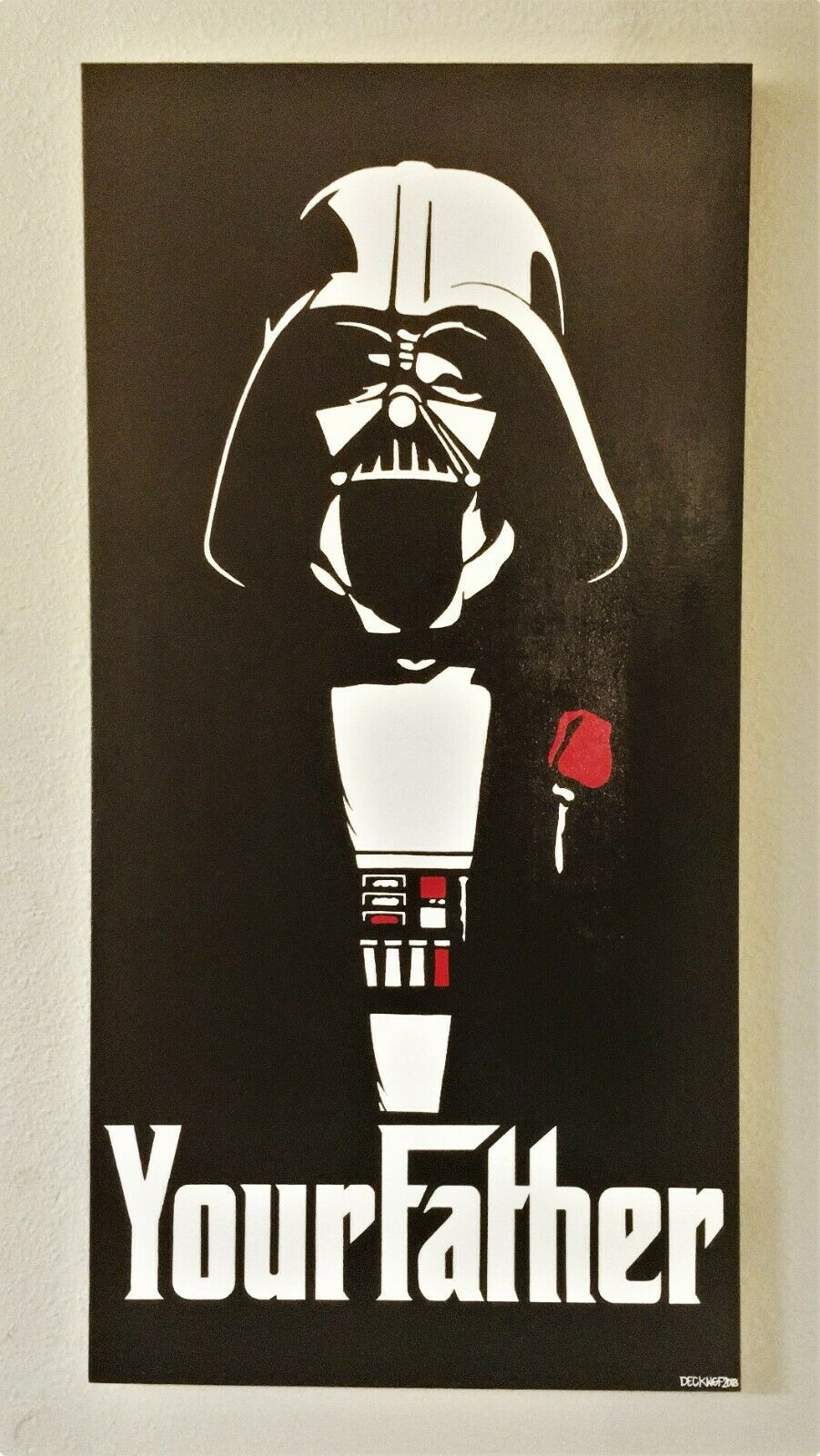 "Star Wars - ""YOUR FATHER"" DARTH VADER GODFATHER 24"" X 48"""