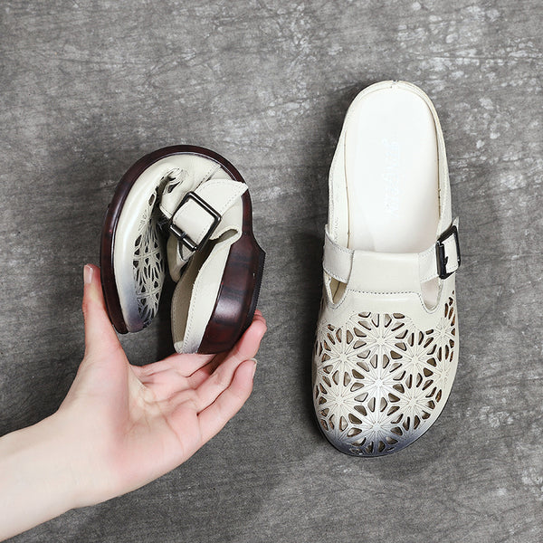 Women Round Toe Flats Slip On Shoes