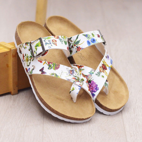 PU Wedge Heel Round Toe Summer Sandals