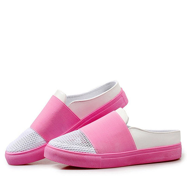 Mesh Fabric Casual Slip-On Flats