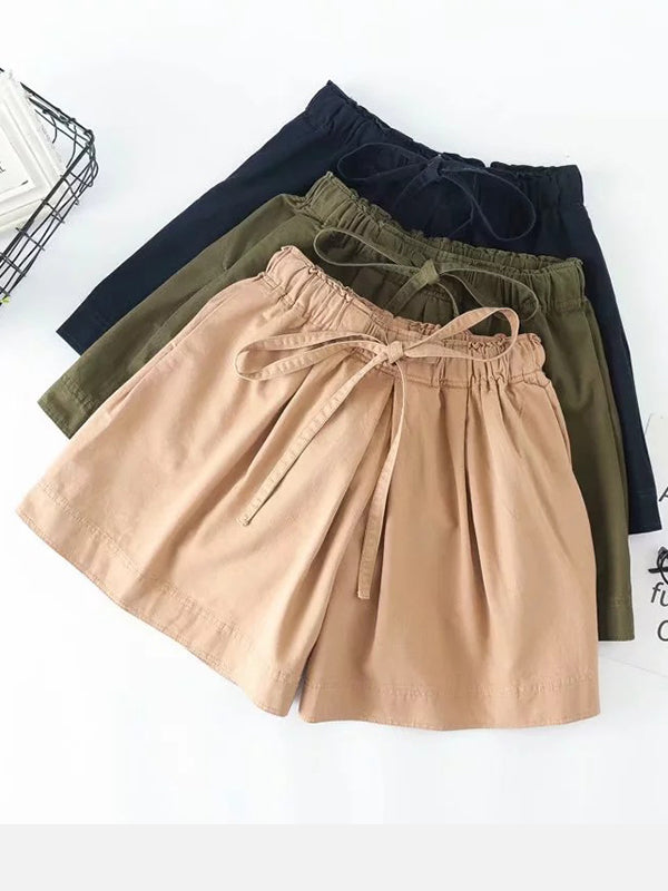 Women's  Casual  Solid Loose Shorts
