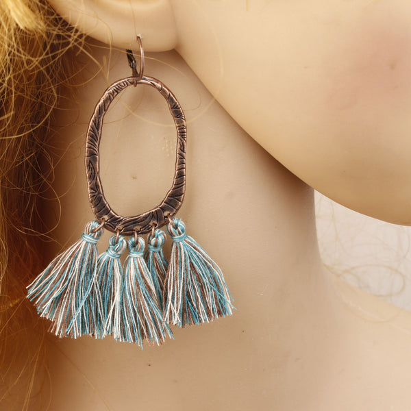 Vintage Bohemian Long Tassel Earrings Alloy Earrings