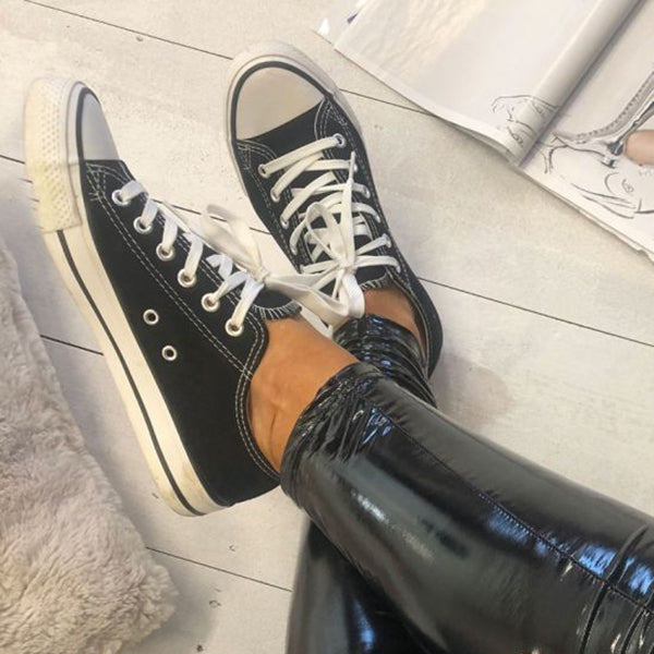 Women Casual Canvas Lace-up Sneakers