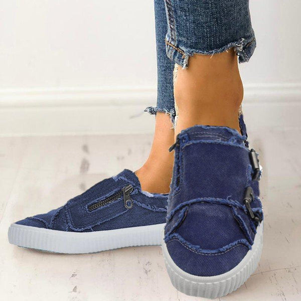 Women Casual Comfy Sneakers Slip On Loafers