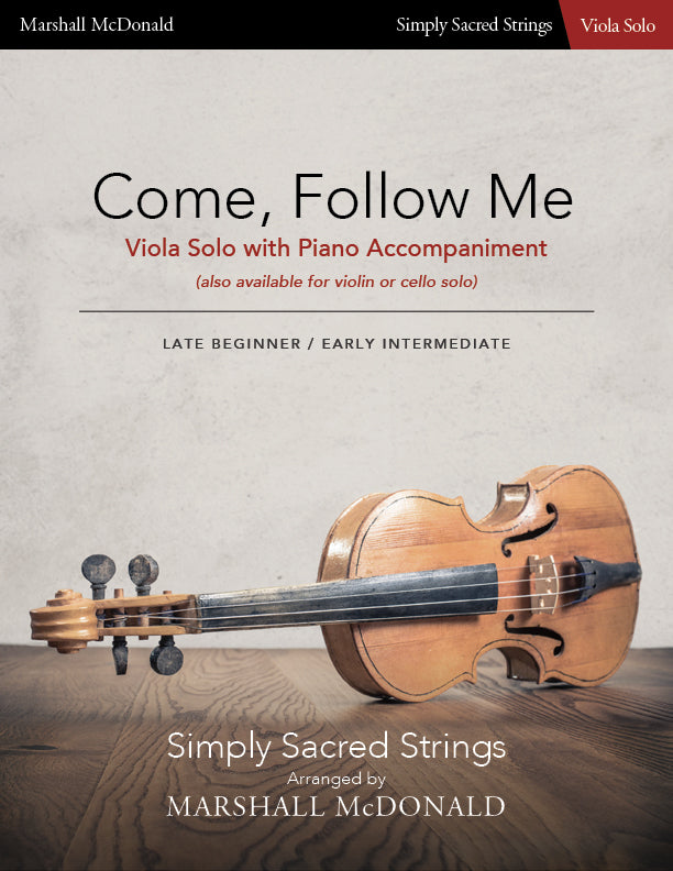 Come, Follow Me (simple viola)