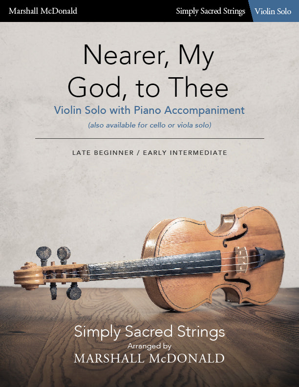 Nearer My God to Thee (simple violin)