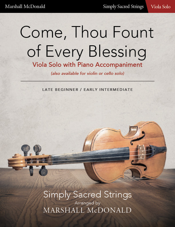 Come, Thou Fount of Every Blessing (simple viola)
