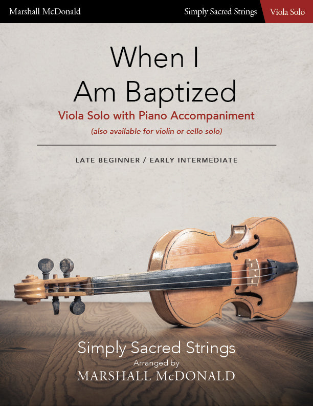When I Am Baptized (simple viola)