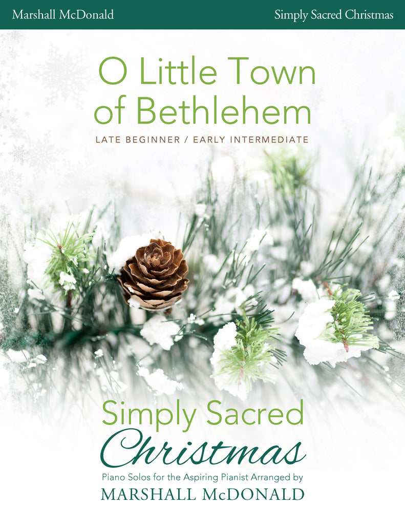 O Little Town of Bethlehem (simple piano)