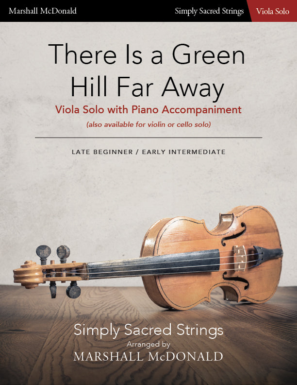 There Is a Green Hill Far Away (simple viola)