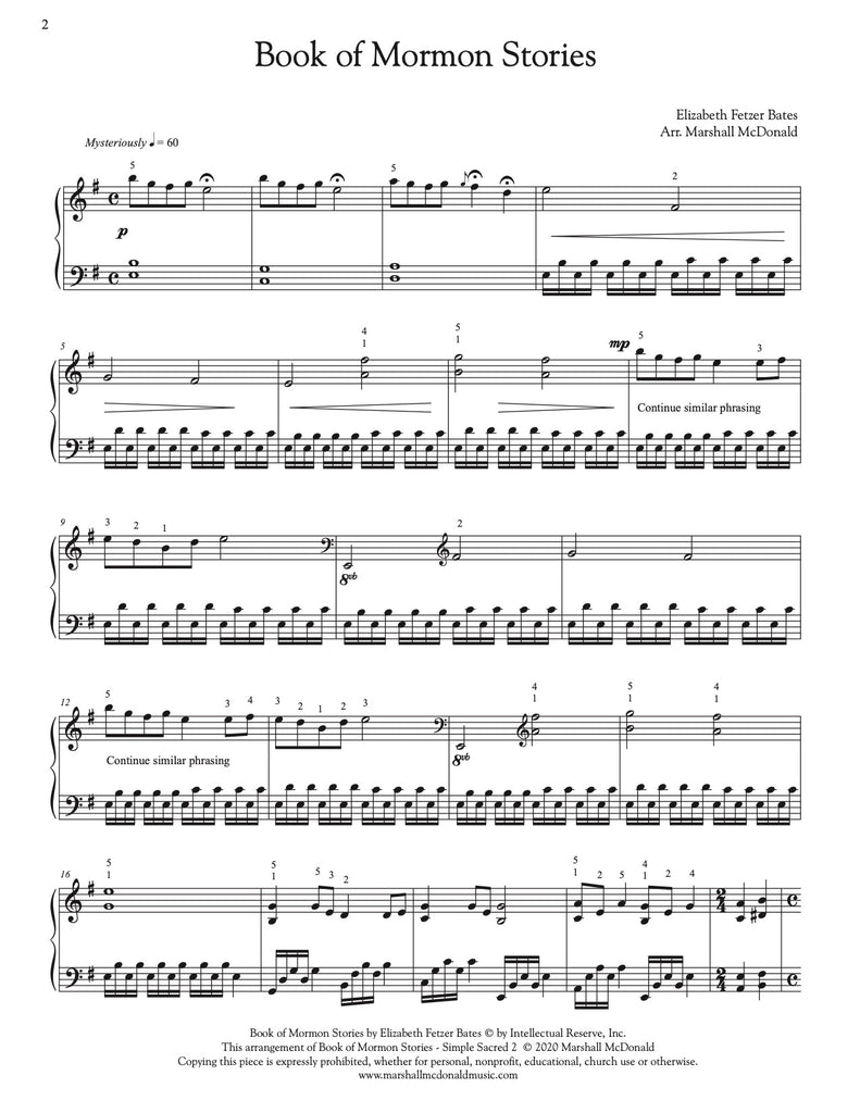Book of Mormon Stories (simple piano)