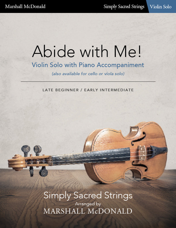 Abide with Me! (simple violin)