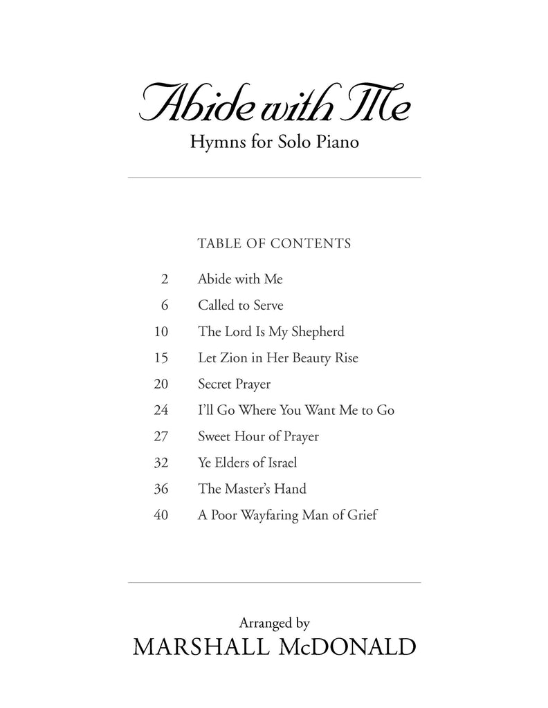 Abide with Me (piano solo book)