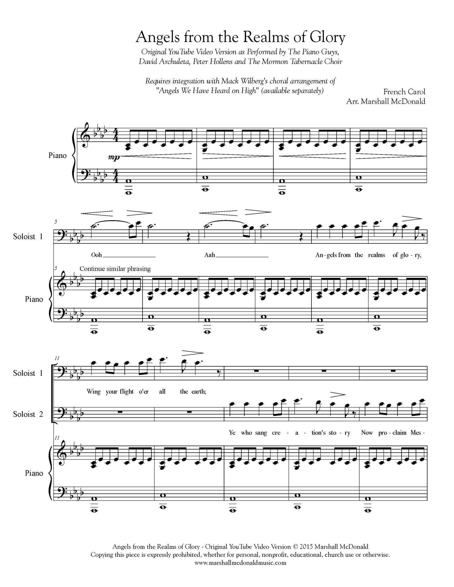 The Gift of Angels (Choral Score) - Organ or String Quartet - Choral Sheet Music