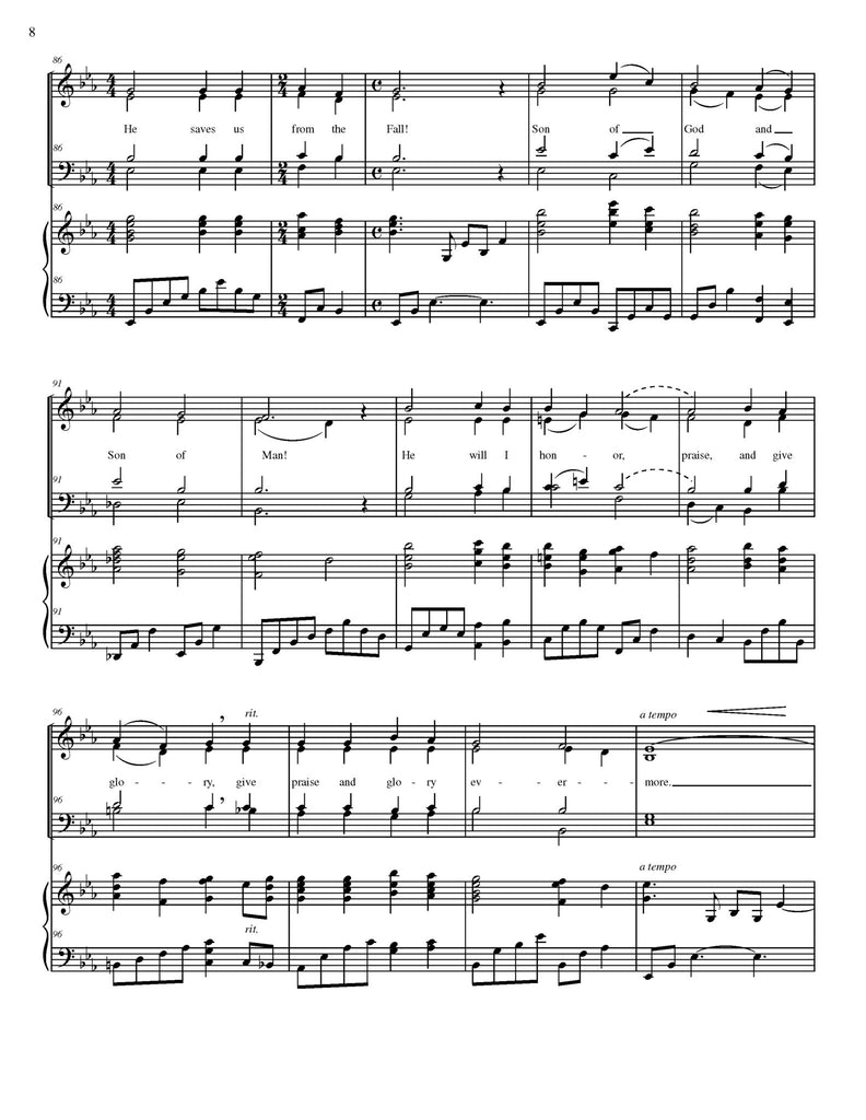 Beautiful Savior - Christmas version (choral SATB)