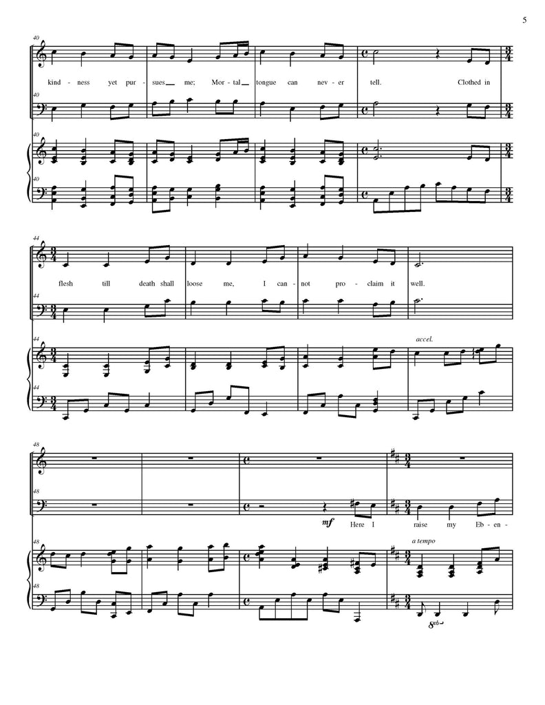 Come, Thou Fount of Every Blessing (choral SATB)
