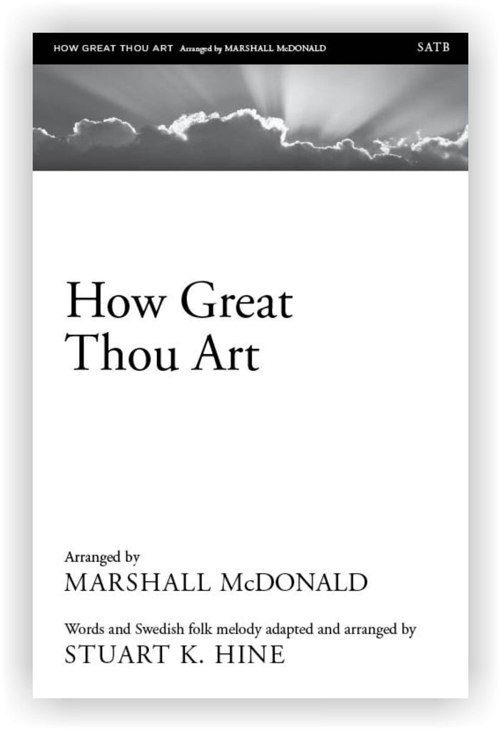 How Great Thou Art (choral SATB)