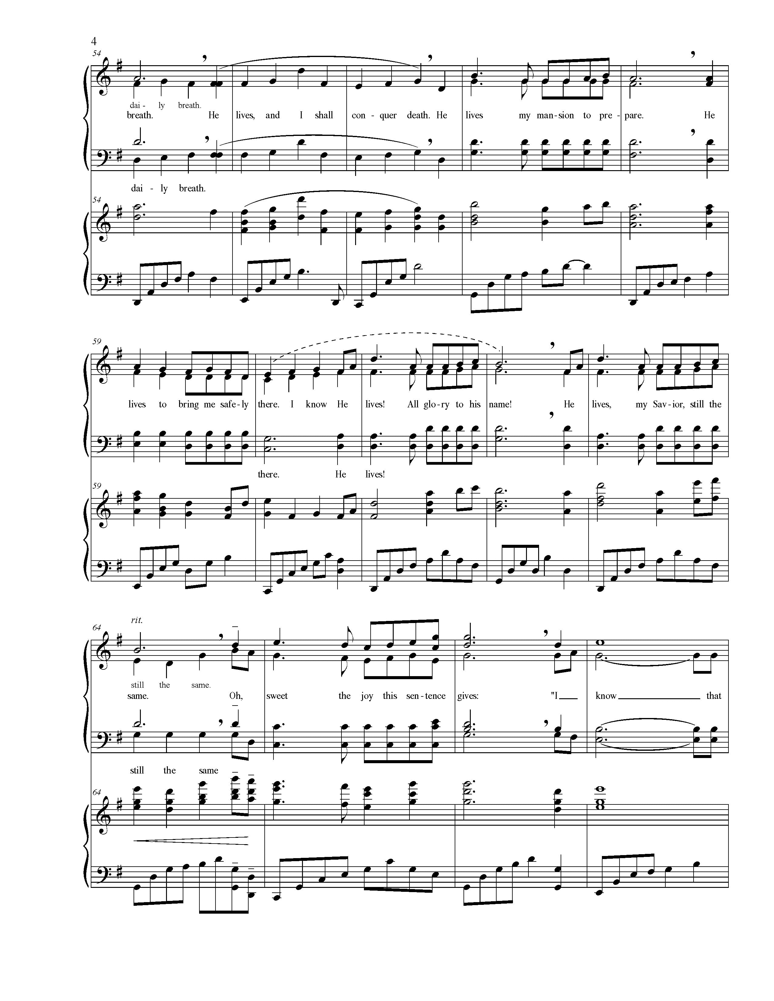 I Know That My Redeemer Lives Choral Satb
