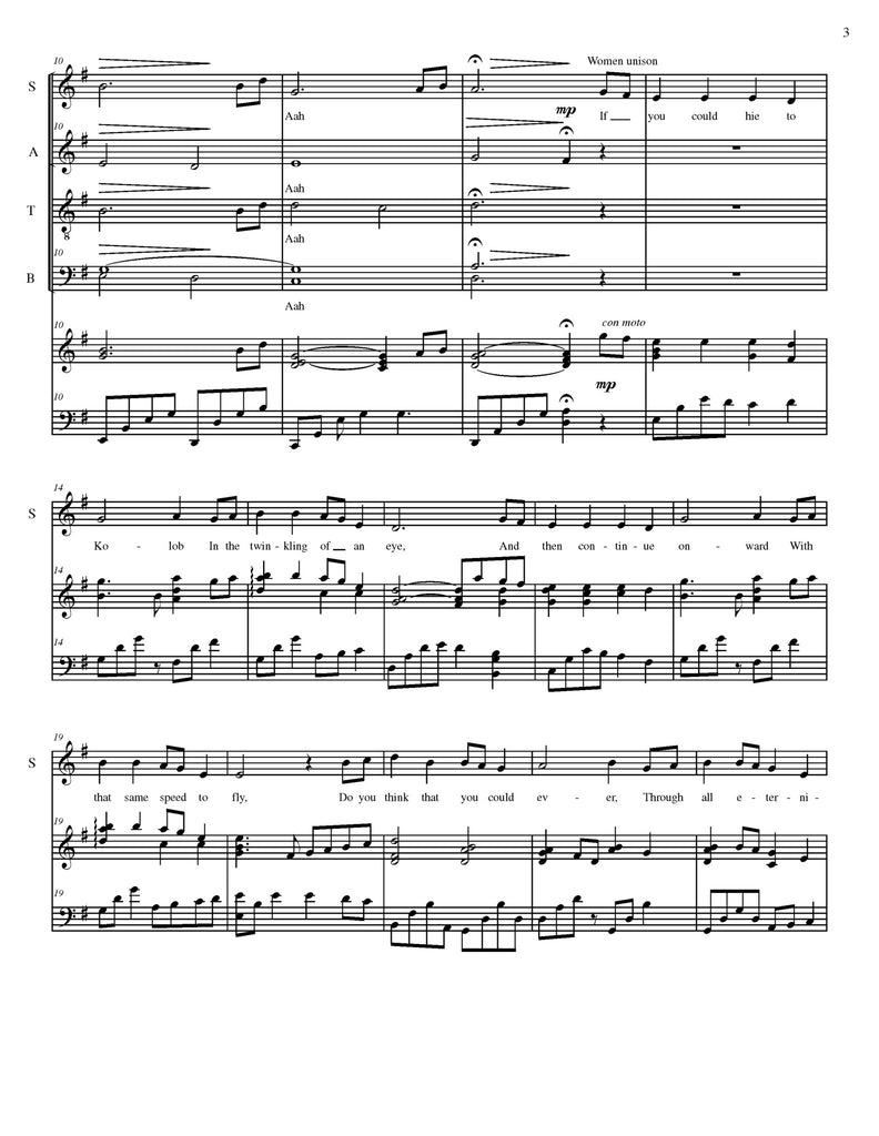 If You Could Hie to Kolob (choral SATB)