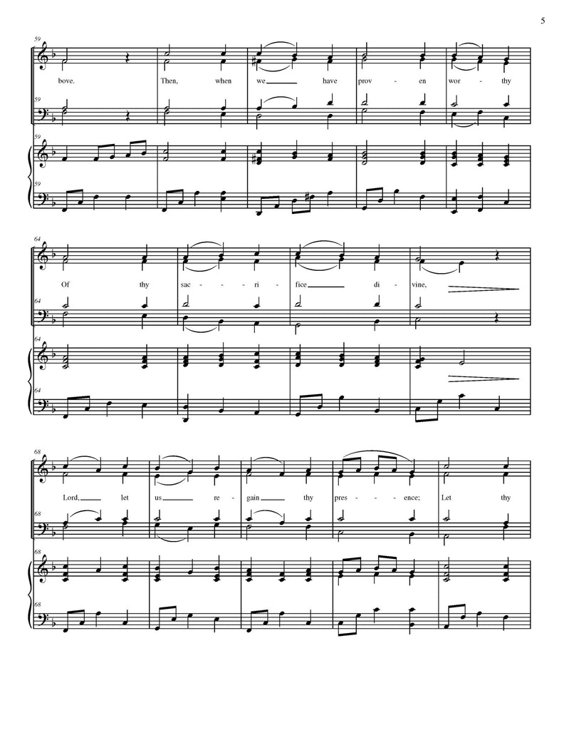 In Humility, Our Savior (choral SATB)