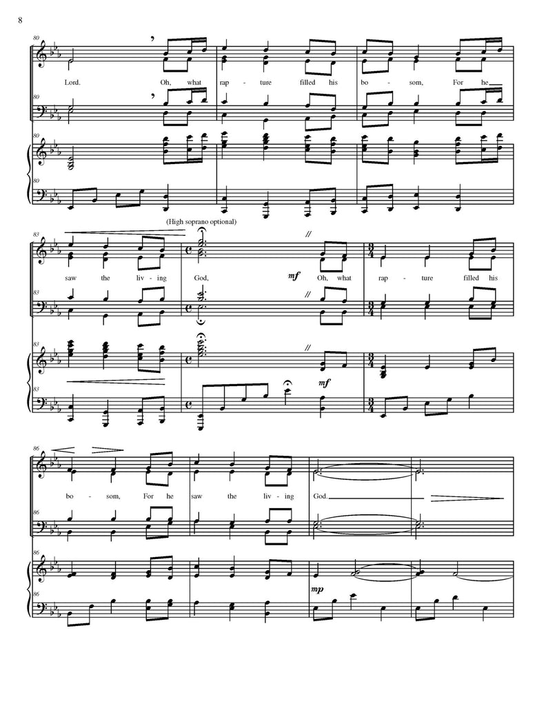 Joseph Smith's First Prayer (tune of Come, Thou Fount of Every Blessing) (choral SATB)