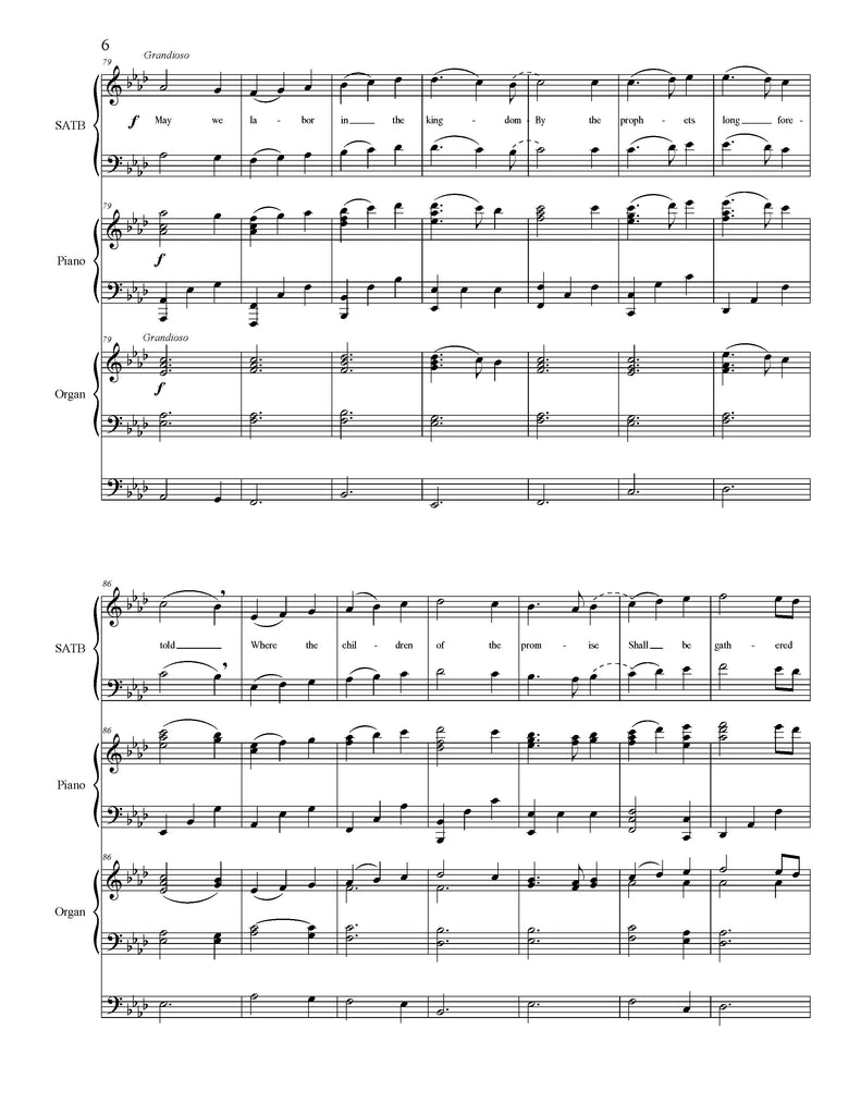 On This Day of Joy and Gladness (Choral SATB)