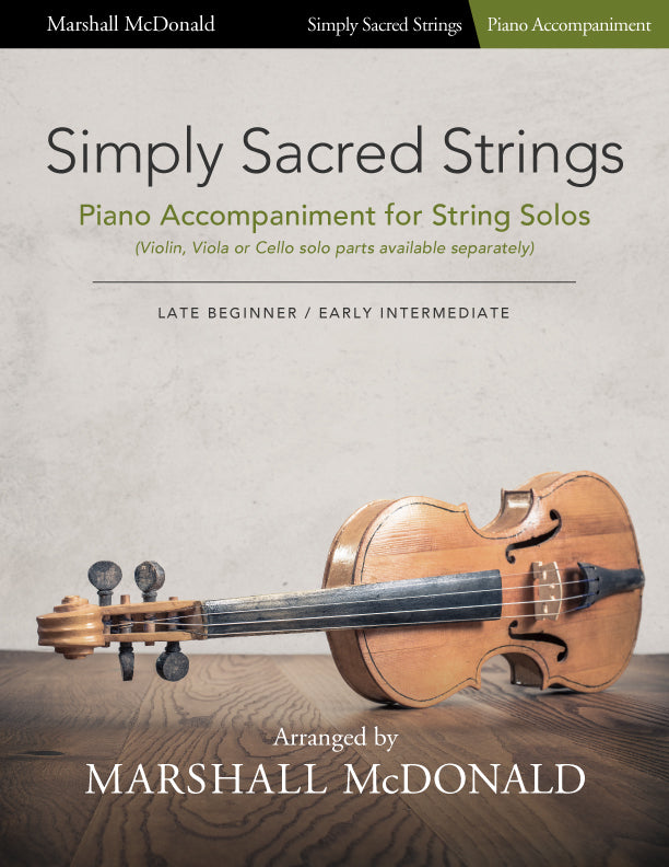 Simply Sacred Strings (piano accompaniment book only)