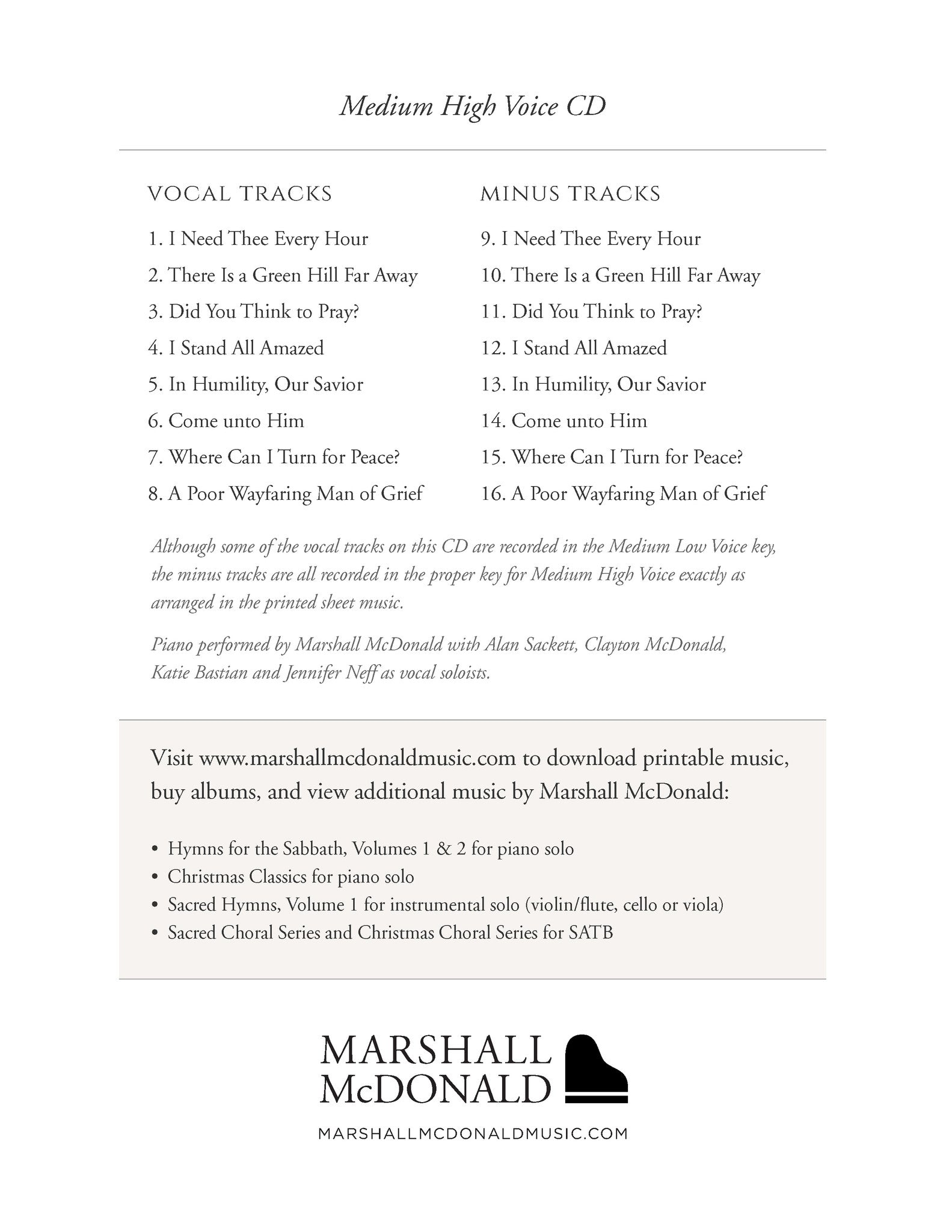 picture relating to Printable Hymns Sheet Music named Sacred Voice, Vol. 1 for Medium Large Voice (sheet songs ebook)