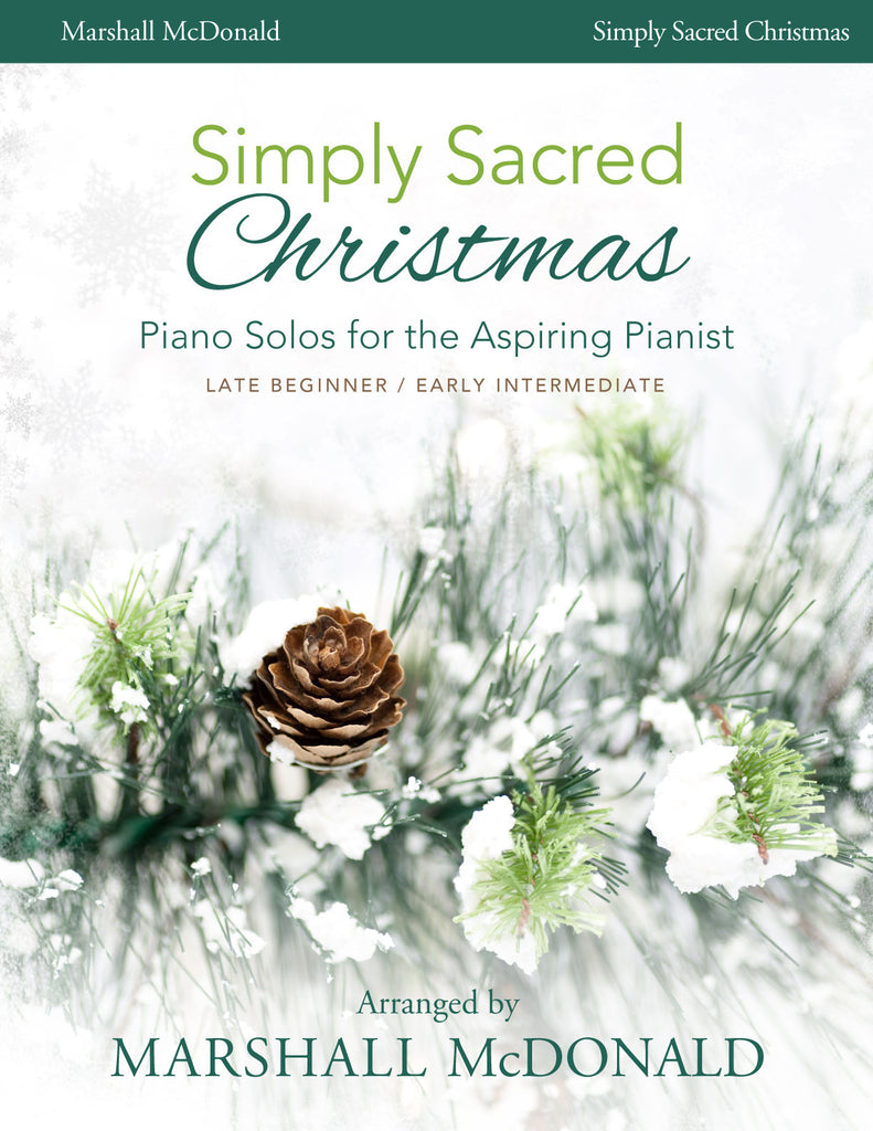 Simply Sacred Christmas (piano solo book)