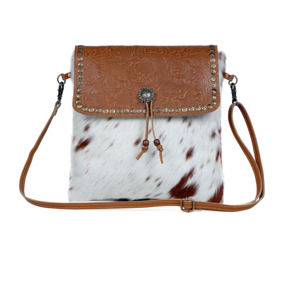 BEAUTIOUS LEATHER & HAIR ON BAG by MYRA BAGS