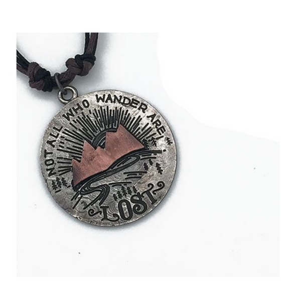 ANJU NOT ALL WHO WANDER NECKLACE