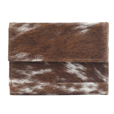 DUSTY WUSTY LEATHER AND HAIRON WALLET BY MYRA BAGS