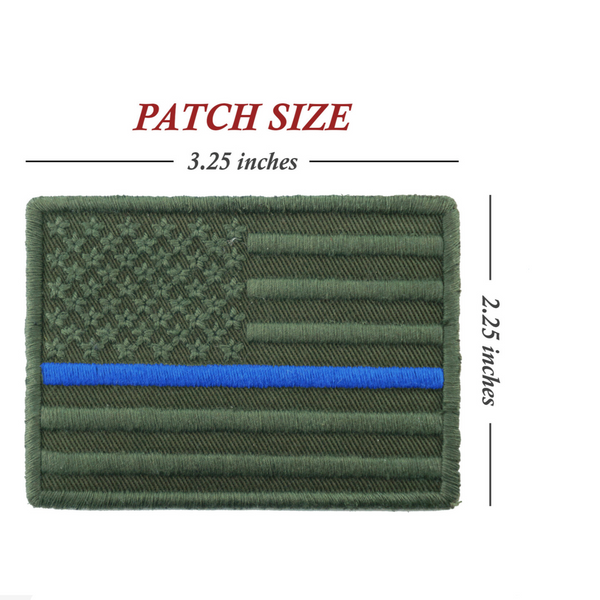 FLAG PATCH (OLIVE)