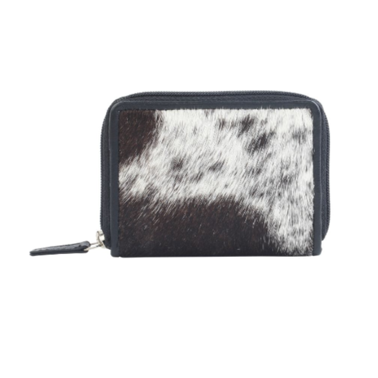 GREYSCALE LEATHER AND HAIRON WALLET BY MYRA BAGS