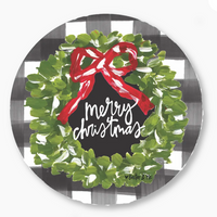 MERRY CHRISTMAS WREATH DOOR HANGER by baxter & me