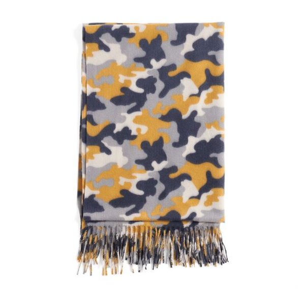 SUPERSOFT CAMO OBLONG SCARF