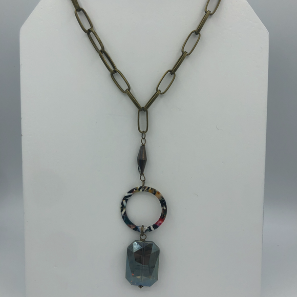 HANDMADE CRYSTAL MULTI-LUCITE NECKLACE