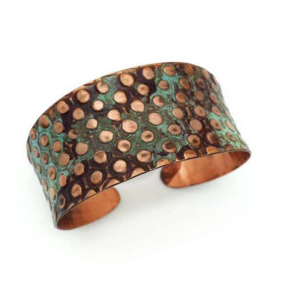 ANJU COPPER PATINA DOT CUFF