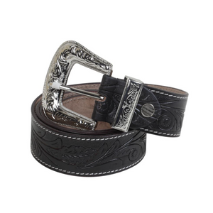 RUNNER UP HAND-TOOLED LEATHER BELT