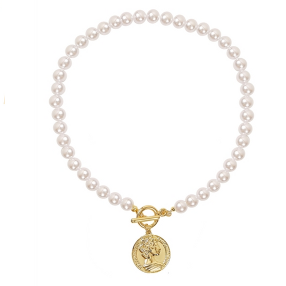 PEARL COIN NECKLACE