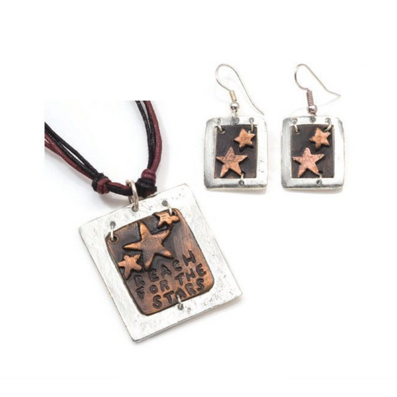 ANJU REACH FOR THE STARS NECKLACE SET