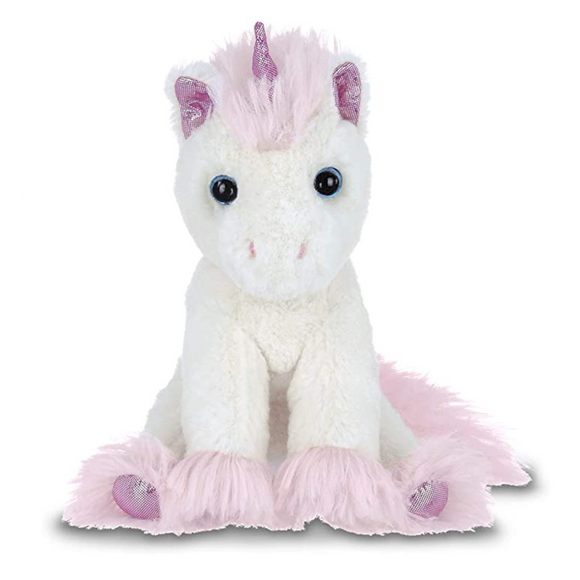 BEARINGTON LIL' DREAMER WHITE AND PINK STUFFED UNICORN