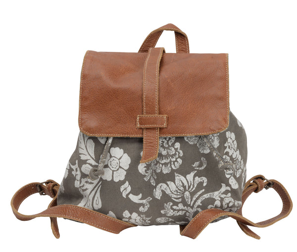 FLOWER & LEATHER BACKPACK